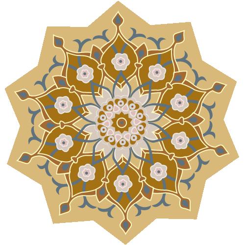 orientalische Muster, sepia