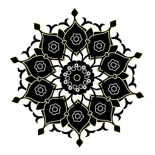 orientalische Muster, black