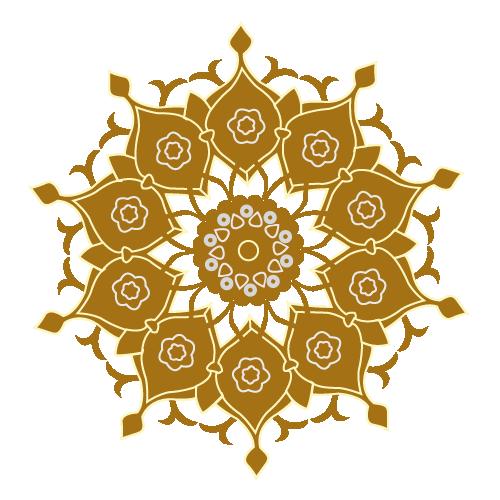 orientalische Muster, sepia 2