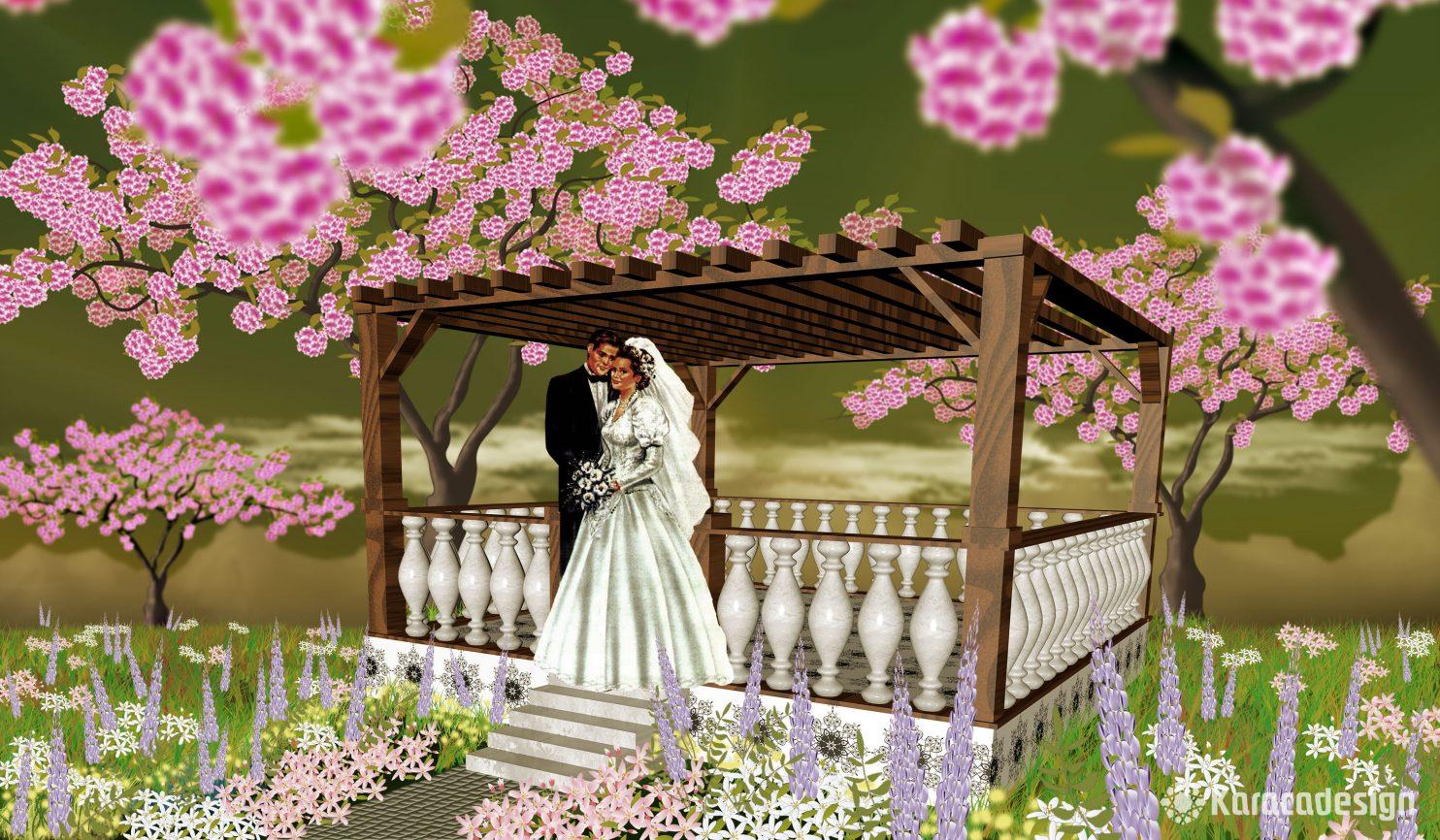 Brautpaar Terrasse