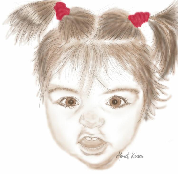 Baby face digitally
