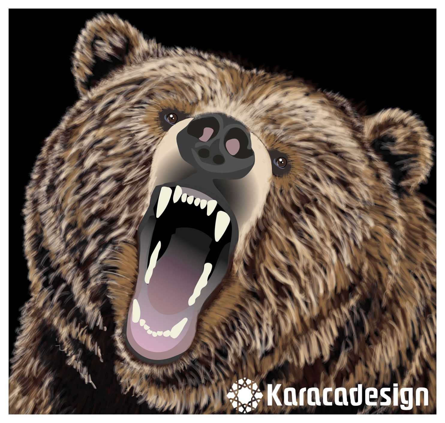 Bear in graphic