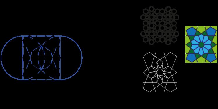 Oriental pattern in graphic