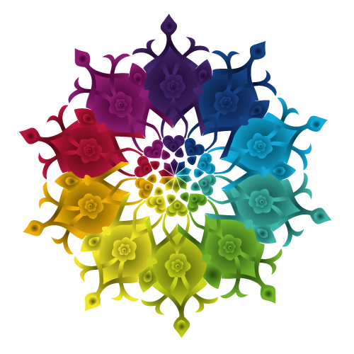 Colorful oriental pattern