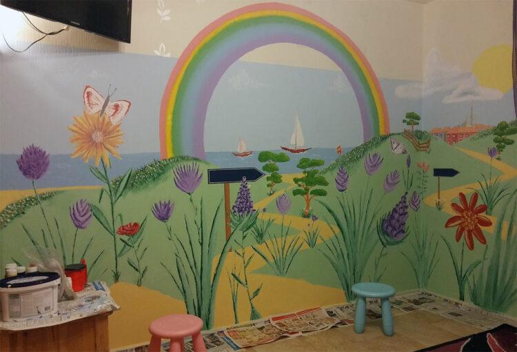 Mural painting children's room
