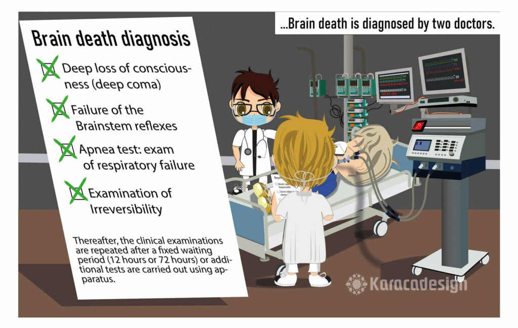 Brain death diagnosis: Deep loss of conciousness and others...